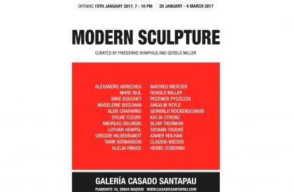 Modern Sculpture, Galería Casado Santapau, 01/17